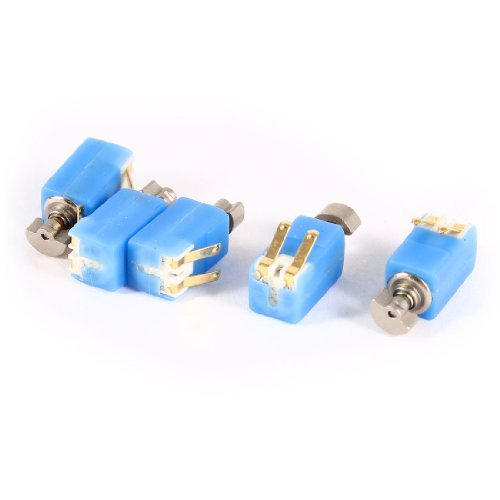 Water & Wood 4.6Mm X 4.8Mm Blue Electric 2000Rpm Speed Vibration Motor Dc3V 5 Pcs With Car Cleaning Cloth