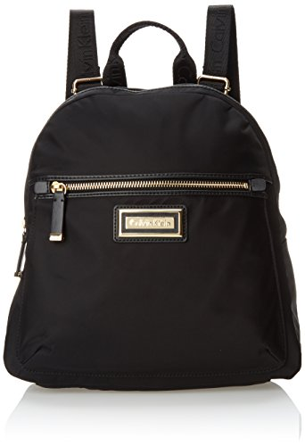 Calvin Klein 4 AP Nylon Backpack, Black/Gold, One Size