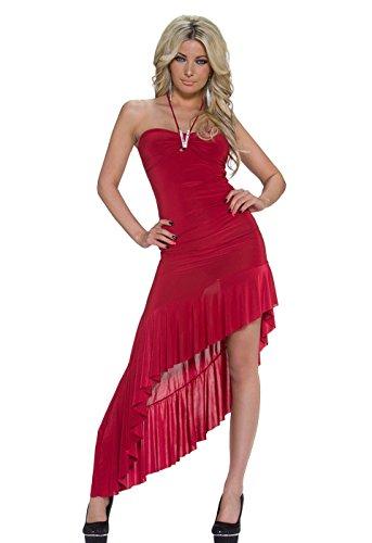 Verspieltes Latina-Kleid mit Neck-Bändchen
