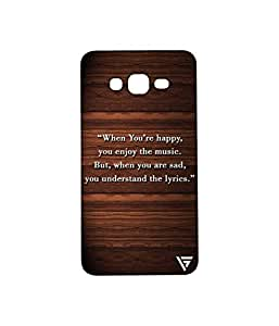 Vogueshell When You Are Happy Printed Symmetry PRO Series Hard Back Case for Samsung Galaxy Grand Prime