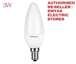 HAVELLS LED BULB FOR CHANDALIER (E-14 HOLDER- 3Watts)
