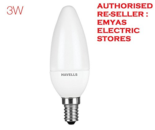 Havells 3W E14 Candle LED Bulb (Warm White)