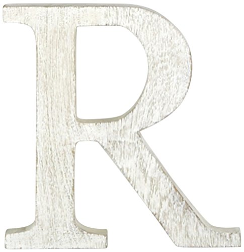 Mud Pie Wood Block Initial-R