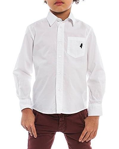 M C S Jungen Hemd Popeline reinweiß