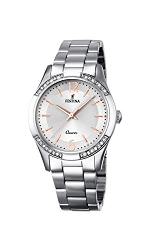 Festina-Damen-Armbanduhr-Analog-Quarz-Edelstahl-F169131