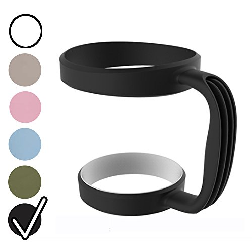 Superior Grip Tumbler Handle for 30 oz. Yeti, RTIC, SIC Tumblers, Eco-friendly, Ergonomic, Exclusive Colors to Customize Your Tumbler [Handle Only] (30 oz. Tumbler Handle, Blackfin)