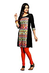 Maybell Women's Kurta (K7120115_Black_Large)