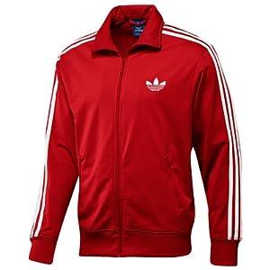Adidas Adi Firebird Track Top Mens X46179 Style: X46179-RED / WHITE Size: L