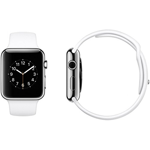 Apple Watch Sport, Silver Aluminum Case/White Band, 42mm