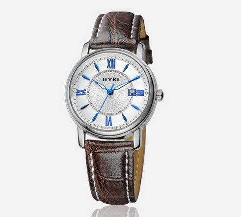Ufingo-Buiseness Casual Leather Strap Nice Calendar Watch For Women/Ladies/Girls-White