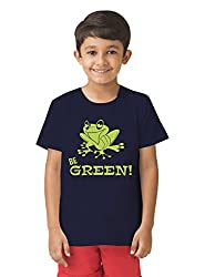 Mintees 100% Combed Cotton Boy's Graphic Print Navy Colour Tshirt MBRNT-04-034_10-11Yrs