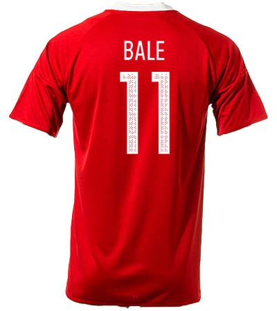 #11 Gareth Bale Wales Home National Soccer Team Euro 2016 Cup Jersey + get Mr. Sport box as a GIFT (Small)