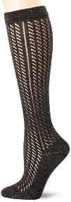 Jessica Simpson Womens Lurex Pointelle Knee High Socks