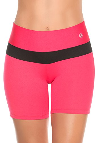 Womens-Compression-Shorts-High-Rise-Low-Cut-at-Leg-Running-Gym-Workout-Cardio