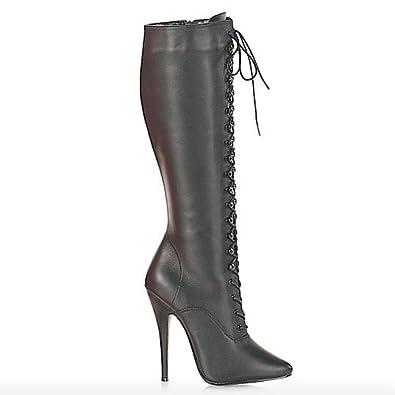 High-Heels-Stiefel: High Heels Leder-Stiefel
