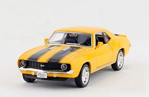 nickys-gift-1-36-5-1969-chevrolet-camero-ss-diecast-model-car-pullback-yellow-1-36-12cm