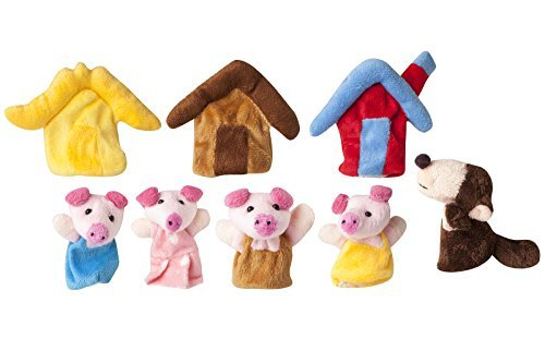 Three Little Pigs Fairy tale Finger Puppets for the perfect Story by TGO
