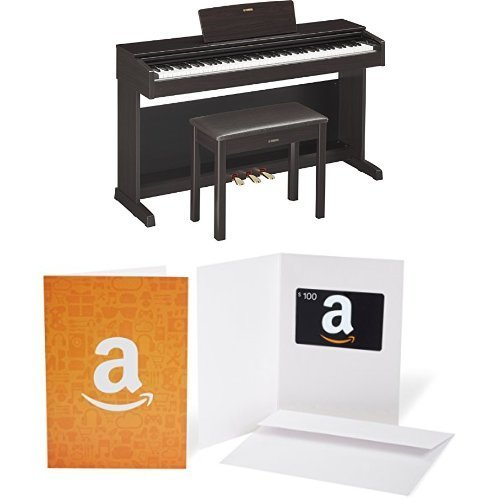 Best Price Yamaha YDP143R Arius Series Console Digital Piano with Bench, Rosewood, with $100 Amazon ...