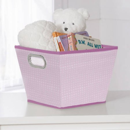 Delta Children Squared Tapered Tote Organizer Storage with Handles, Barely Pink (My Lil Pony Toddler Bed compare prices)