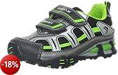 Geox J LTECLIPSE T J3410T01104C0635, Sneaker ragazzo, Argento (Silber (SILVER/LIME C0635)), 26