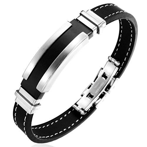 jstyle-acier-inoxydable-bracelet-homme-de-silicone-chaine-de-la-main-noir-20cm