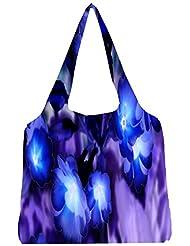 Snoogg Glowing Flowers Inspired 2634 Womens Jhola Shape Tote Bag
