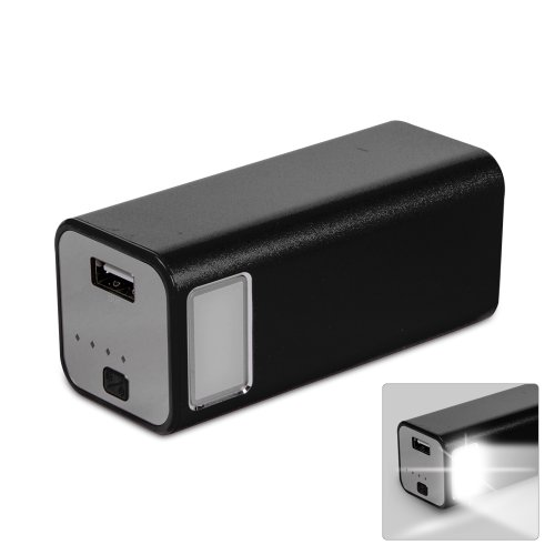 KMASHI KMAX-806 11200mAh Outdoor Flashlight Extended External Travel Battery Pack Mobile Power Charger for most Smartphones, iPad and other USB-charged devices (Black)