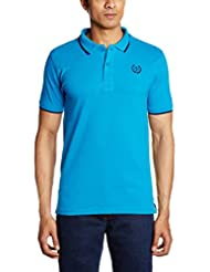 Indigo Nation Men's Banded Collar Cotton T-Shirt
