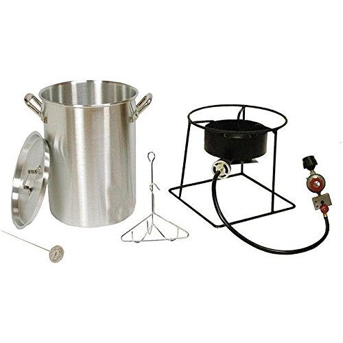 Outdoor Turkey Fryer + Stainless Steel 30Qt. Pot Deep Fry Steam Shimp Clams Cook ;(from_dtidaho2 (Stainless Steel 30 Quart Pot compare prices)