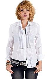 White Novelty Pintuck Shirt