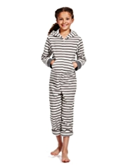 Soft & Cosy Hooded Fleece Striped Onesie