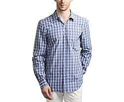 Scotchtree Men's Shirt (sco_022_Blue_Large)