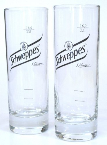 Schweppes vodka set de 6 verres à eau - 0,2 exclusive-édition gastro