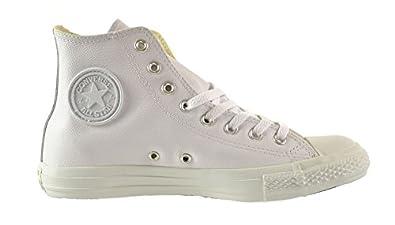 Converse Chuck Taylor A/S Leather HI Unisex Shoes White 1t406 (13 D(M) US)