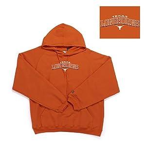 Texas Longhorns NCAA Goalie Hooded Sweatshirt (Texas Orange) by Antigua