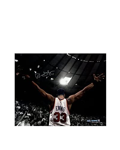 Steiner Sports Memorabilia Patrick Ewing Signed Arms Out Facing Crowd Photo, 16 x 20