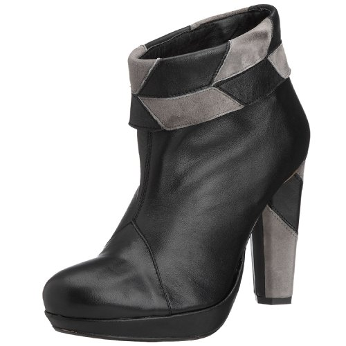 Hard Hearted Harlot Women's Gravy Bootie napa black/suede gray Gravy 6 UK