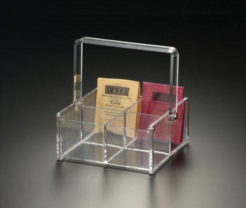 4 Compartment Tea Bag Caddy (Acrylic)