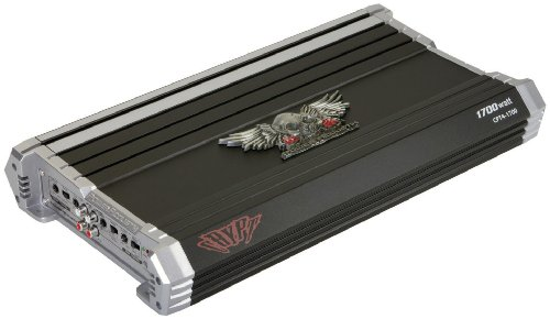 Power Acoustik Cpt4-1700 4 Channel 1700 Watt Mosfet 2-Ohm Stereo, 4-Ohm Bridged Tri-Mode Capable With Selectable 45Hz, 6/12Db Bass Boost