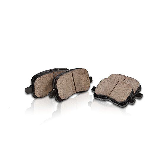 REAR Performance Grade Quiet Low Dust [4] Ceramic Brake Pads + Dual Layer Rubber Shims CP10088B