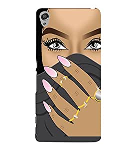 PrintVisa Beautiful Eyes Girl Art 3D Hard Polycarbonate Designer Back Case Cover for Sony Xperia XA