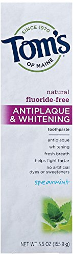 antiplaque-whitening-fluoride-free-toothpaste-spearmint-55-oz-1559-g