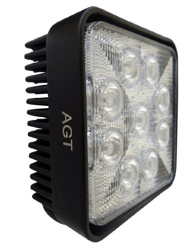 Genssi LED Off Road Light 4X4 Work Light Waterproof 27W 12V 6000K (30 Degree Spot)