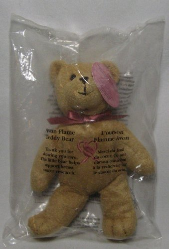 Avon Flame Teddy Bear Supporting Breast Cancer
