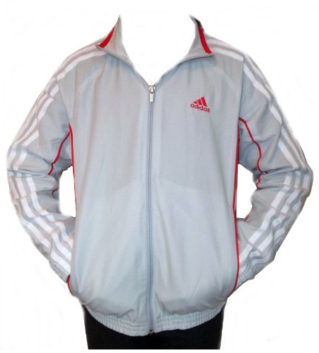 Adidas performance Kids Track suit top Jacket Grey/red in Sizes 5-6y 9-10y 11-12y 13-14y 15-16yrs