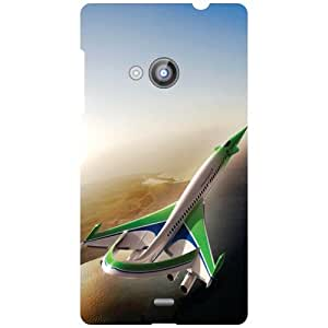 Nokia Lumia 535 Back Cover - Birds View Designer Cases