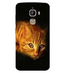 ColourCraft Cat Look Design Back Case Cover for LeEco Le 2