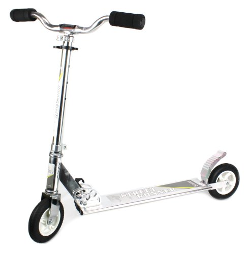 Street Runner Heavy Duty Two Wheeled Metal Toy Kick Scooter W/ Adjustable Handle Height (Black)