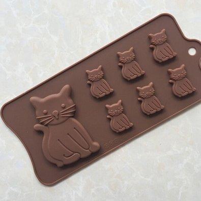 7-Chats-en-silicone-Fondant-DIY-Ice-Cube-Moule-chocolat-glace-gteau-Cookie-moule-savon-moule--ptisserie-dcoration-pour-cupcake