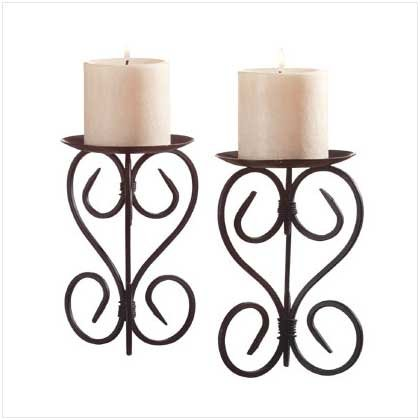Spanish Mission Metal Cathedral Candleholder Stand
